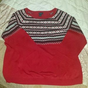 Rue 21 2X Plus Red Sweater with design
